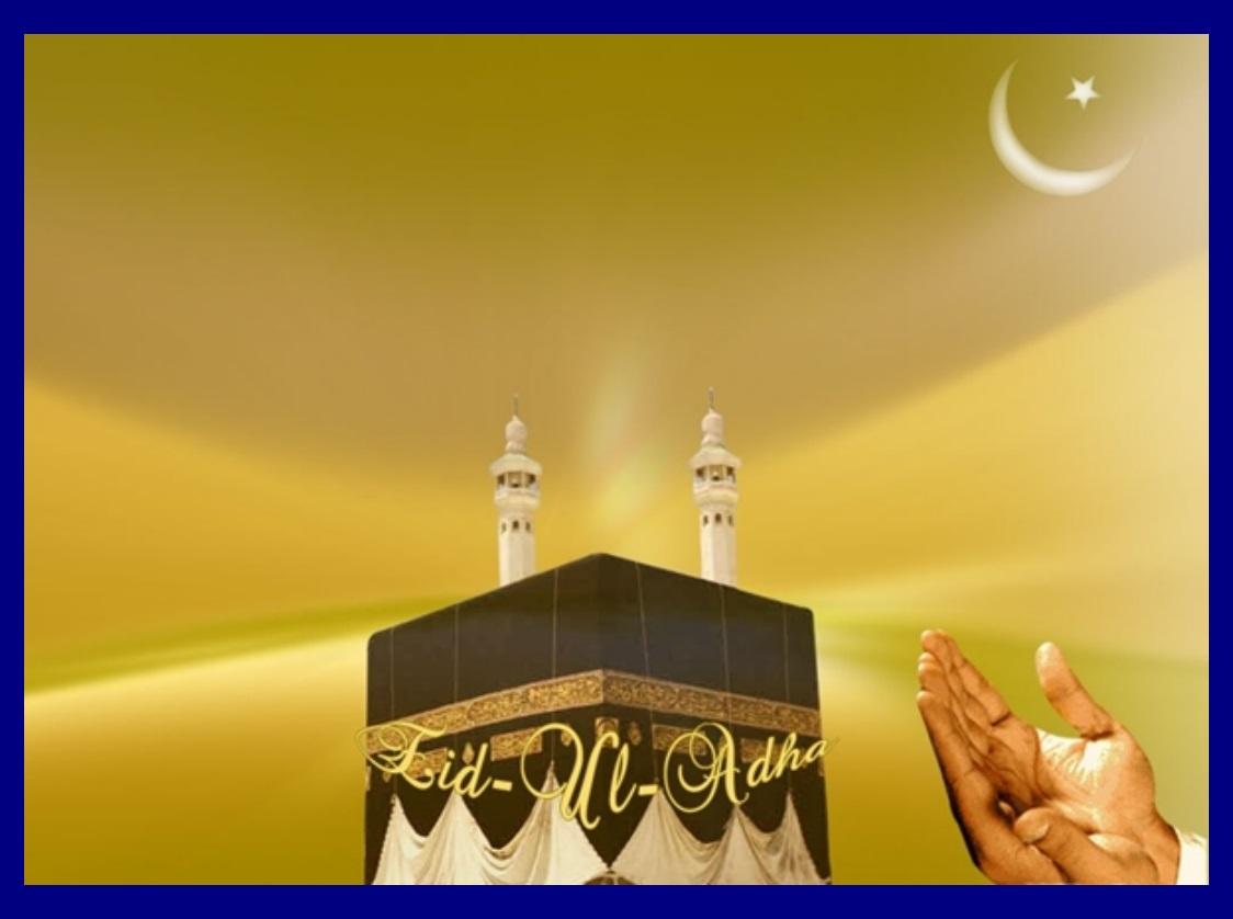 Eid alAdha Arabic عيد الأضحى Īdu lAḍḥā Festival or Greater Bairam is a religious festival celebrated by Muslims all over the world