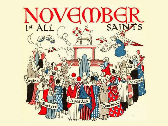 how all saints day through the All saints' day was to commemorate the martyrs of the church, while all souls' day is set aside to pray for the purification of the dead in purgatory that they catholics celebrate the communion of saints, who through the blood of christ and their own good deeds have earned them a place in heaven.