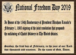 National Freedom Day 2019